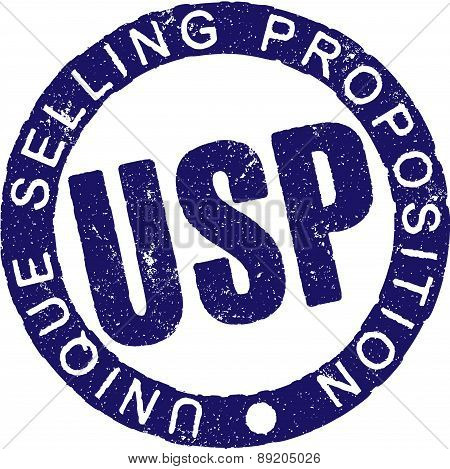 Rubber stamp USP. Vector illustration isolated on a white.