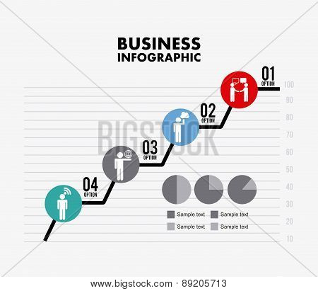 Options chart design over white  background vector illustration