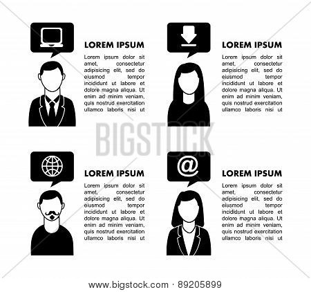 People network design over white background vector illustration