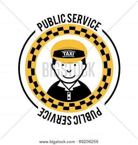 Taxi design over white background vector illustration