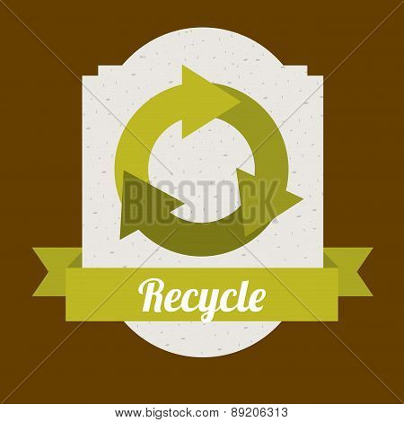 Recycle design over brown background vector illustration