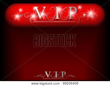 Vip Shield With Diamond Shine. Vector Illustration.