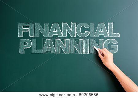 writing financial planning on blackboard