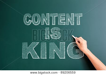 writing content is king on blackboard