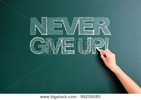 writing never give up on blackboard