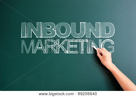 writing inbound marketing on blackboard