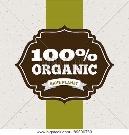 ecology design over gray background vector illustration