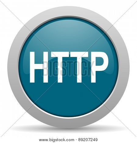 http blue glossy web icon