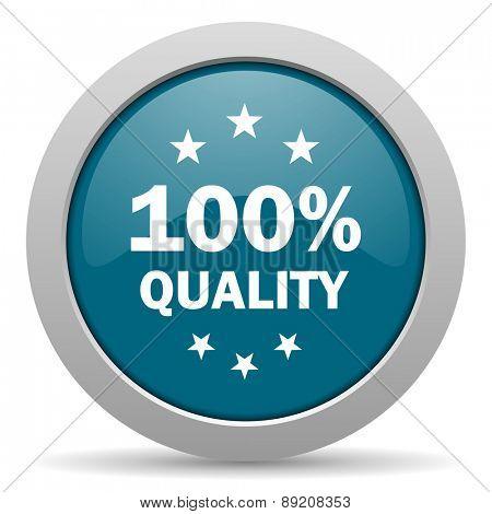quality blue glossy web icon