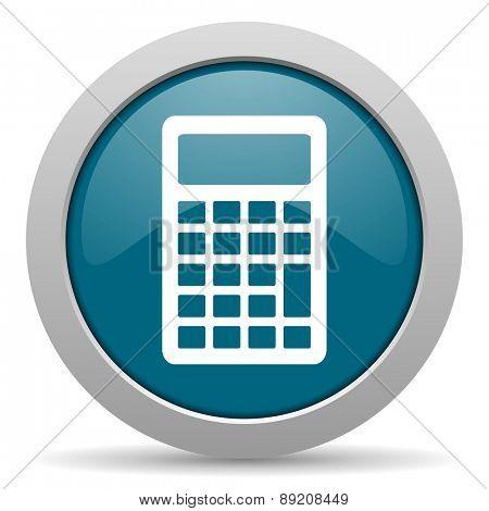 calculator blue glossy web icon