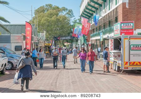 Visitors In A Street Scene At The Bloem Show