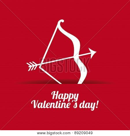 valentines day over dotted purple background, vector illustration