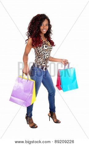 African Woman Going Shopping.
