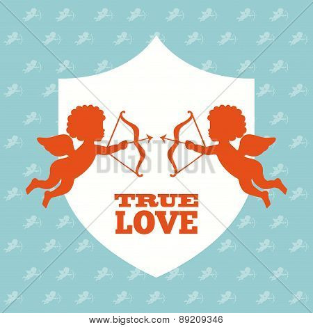 love design day over blue background vector illustration
