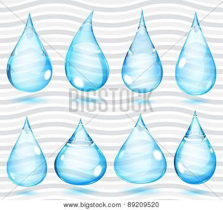 Transparent Light Blue Drops