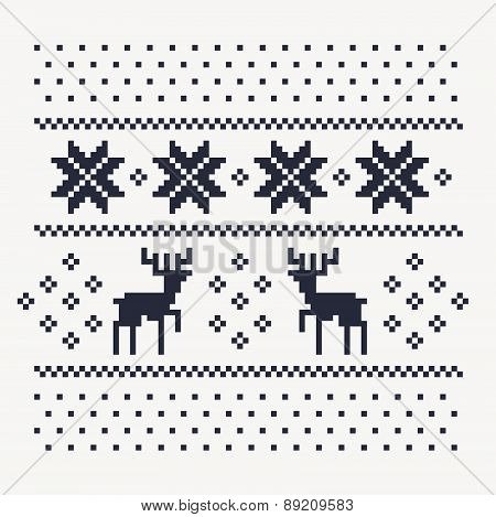 christmas winter pattern print for jersey or t-shirt.