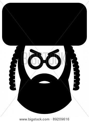 Orthodox jew vector icon