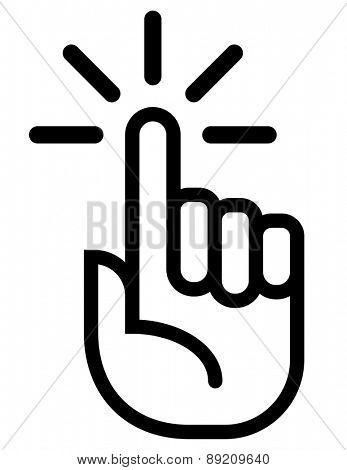 Attention finger vector icon