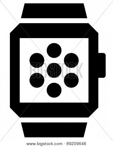 Apps in smartwatch vector icon