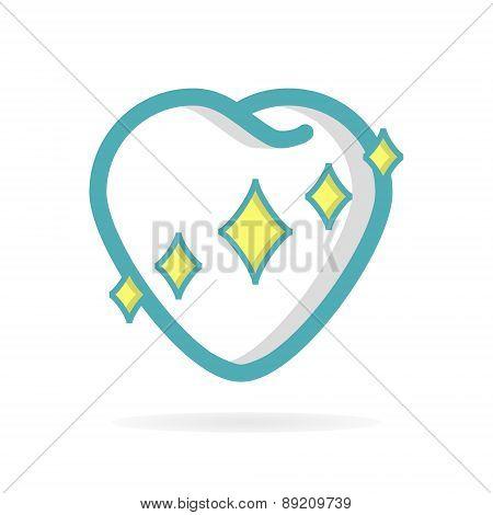 Healthy teeth vector logo design element