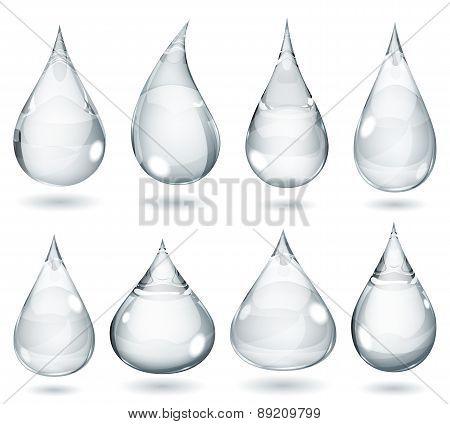 Opaque Gray Drops