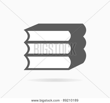 Book icon or logo