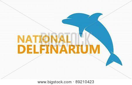 Vector logo dolphinarium