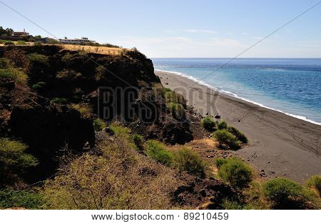 Cliff By The Ocean
