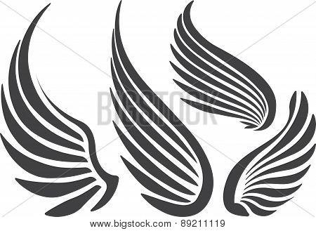 Set Of 4 Wings.