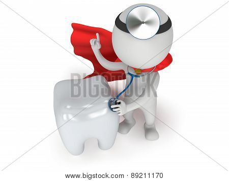 Superhero Doctor Checkup Healthy Tooth