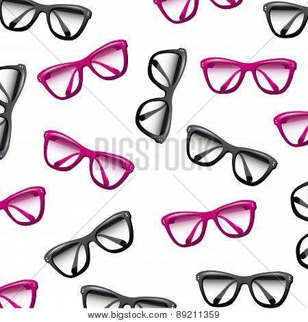 Glasses design over white background vector illustration