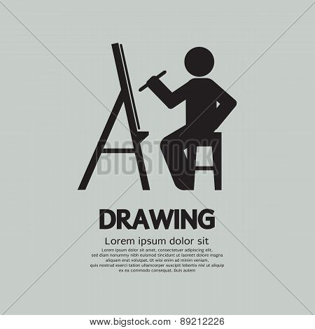 Artist Drawing Picture Symbol.