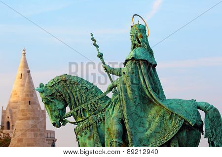 Budapest. Hungary. Buda Castle. Monument to Ishtvan.