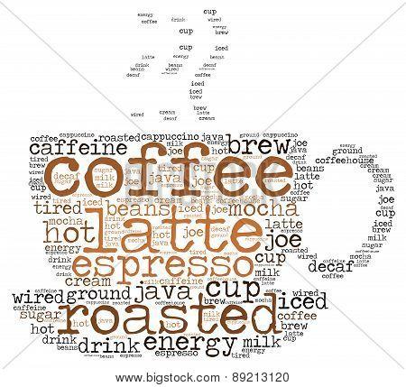 Coffee Cup Word Cloud