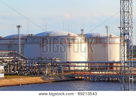 Oil business terminal.