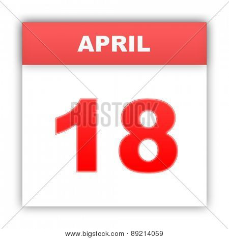 April 18. Day on the calendar. 3d