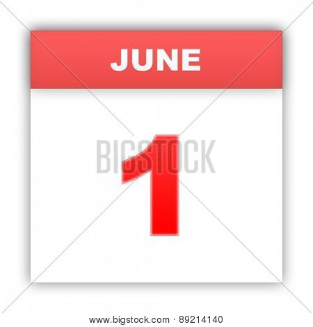 June 1. Day on the calendar. 3d