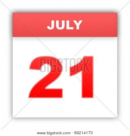July 21. Day on the calendar. 3d