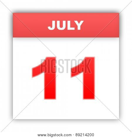 July 11. Day on the calendar. 3d