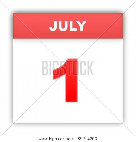 July 1. Day on the calendar. 3d