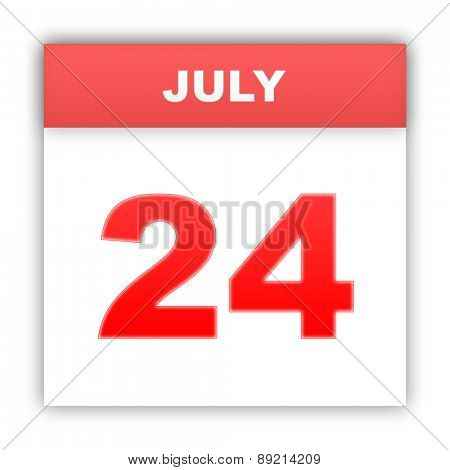 July 24. Day on the calendar. 3d