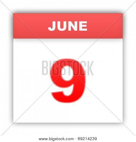 June 9. Day on the calendar. 3d