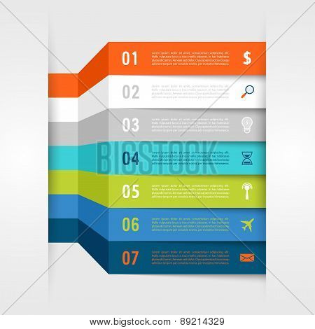 Infographic Design With Paper Creative Lines.