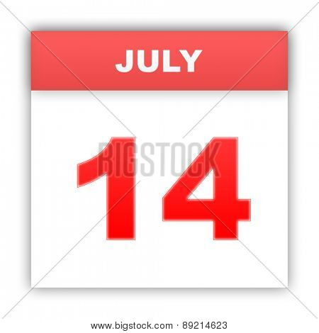July 14. Day on the calendar. 3d