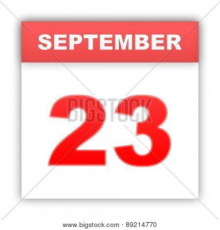 September 23. Day on the calendar. 3d