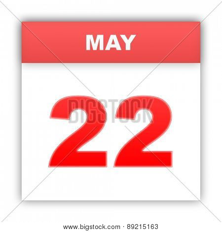 May 22. Day on the calendar. 3d