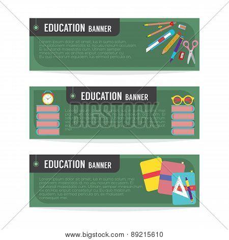 Set Of Education Banner.