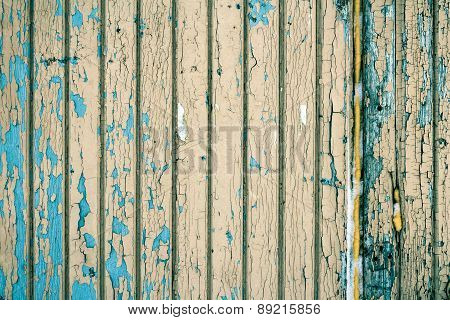 Boards Covered With Old Paint