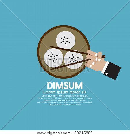 Dimsum With Chopsticks.