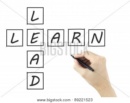 Learn-lead Crossword Written By Man's Hand